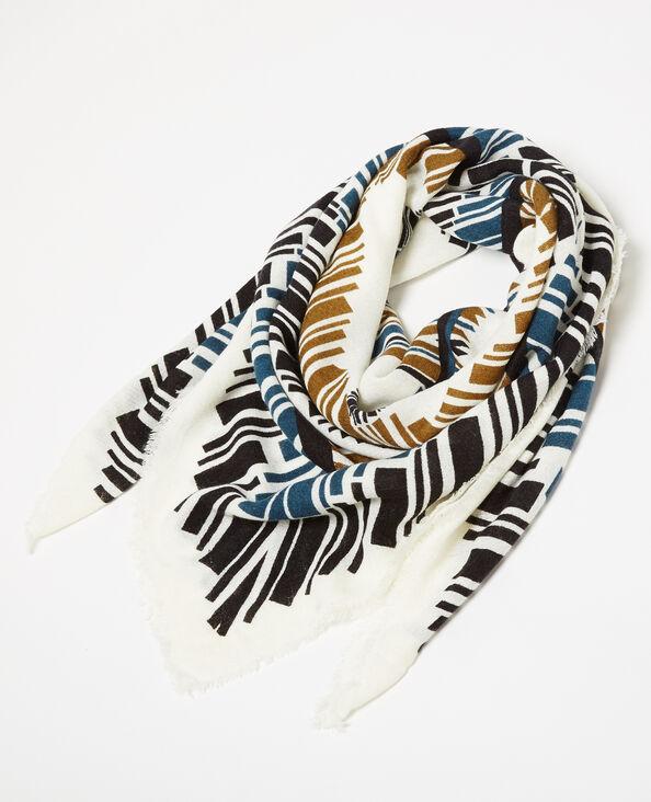 Foulard à motifs blanc