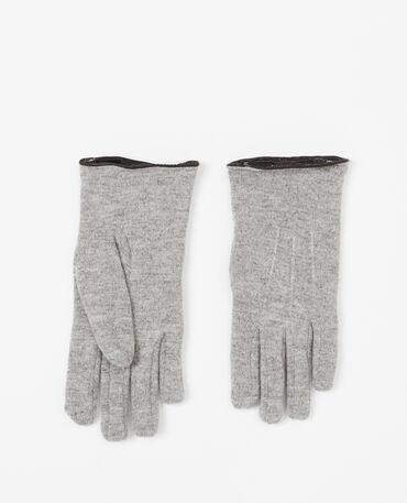 Gants en laine doublés noir