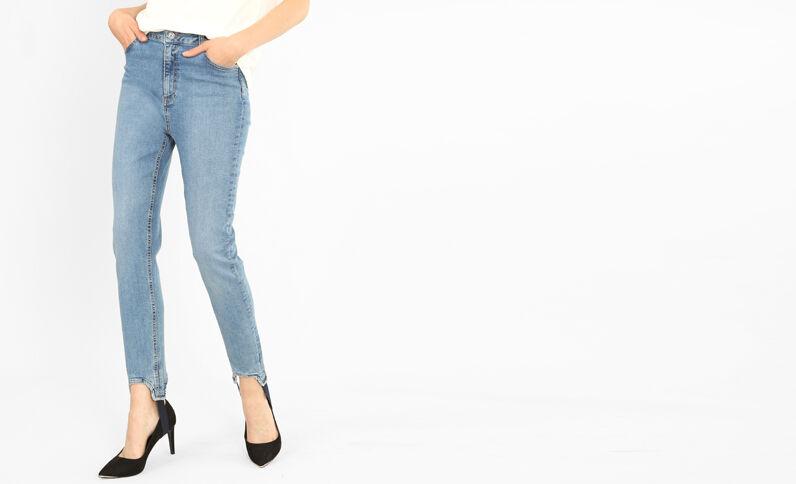 Skinny-Jeans in Keilhosenform Himmelblau