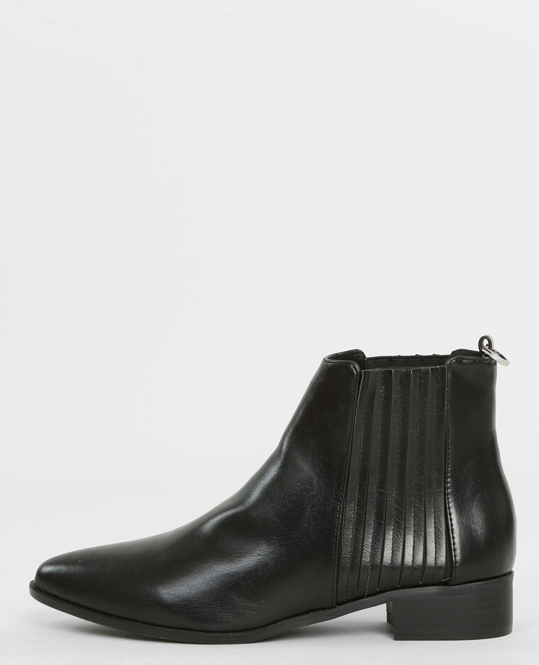 spitze chelsea boots schwarz 986145899a08 pimkie. Black Bedroom Furniture Sets. Home Design Ideas