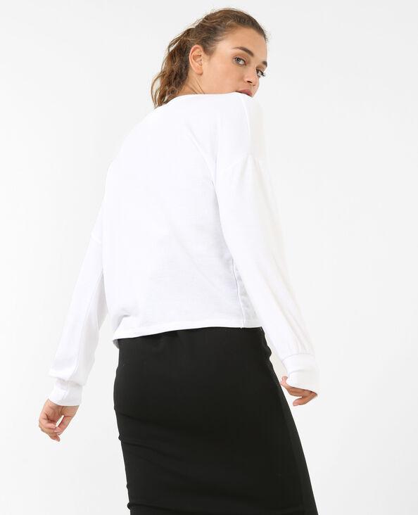 Sweater met koordjes ecru
