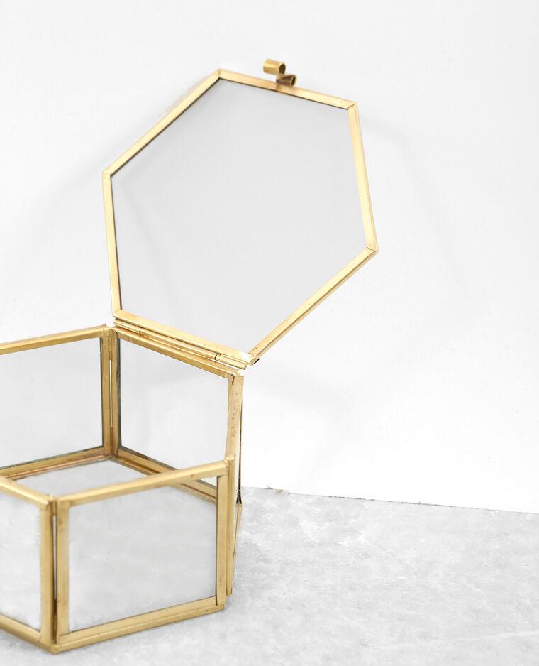 Boîte à bijoux doré