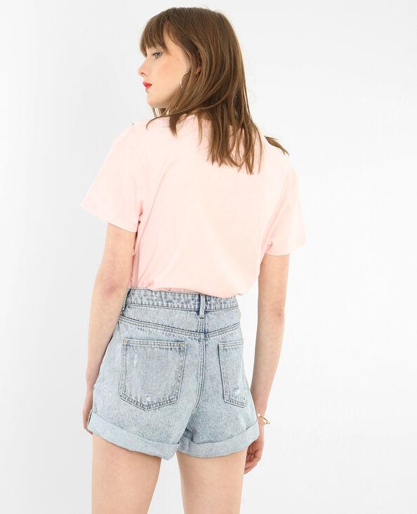 T-Shirt-Lizenz-Def Leppard rosa