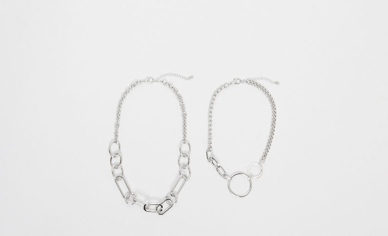 2er-Set Halsketten Rosa