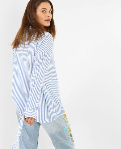 Hemd met strepen blauw