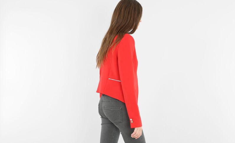 Blazer court rouge