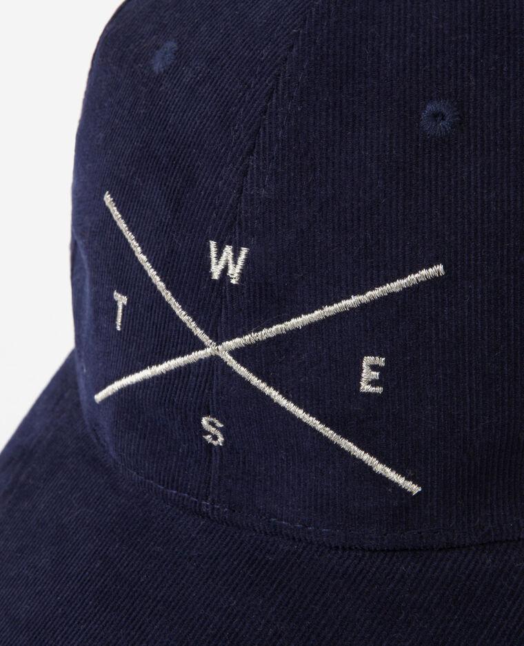 Gorra terciopelo bordada Azul
