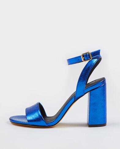 Sandalias de tacón azul eléctrico