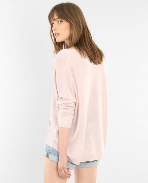 Lurextrui met V-hals roze