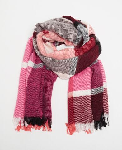 Warmer Schal mit Karomuster Rosa