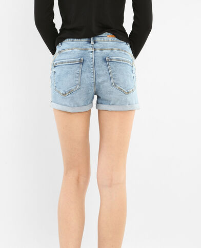 Short push up blu denim