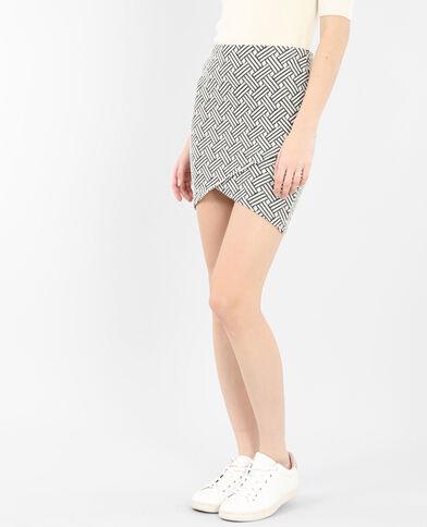 Minigonna jacquard grigio