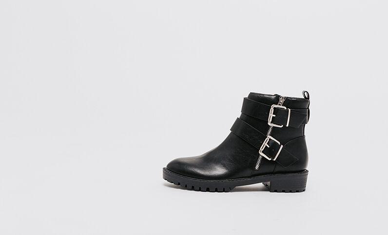 Boots in stile motociclista nero