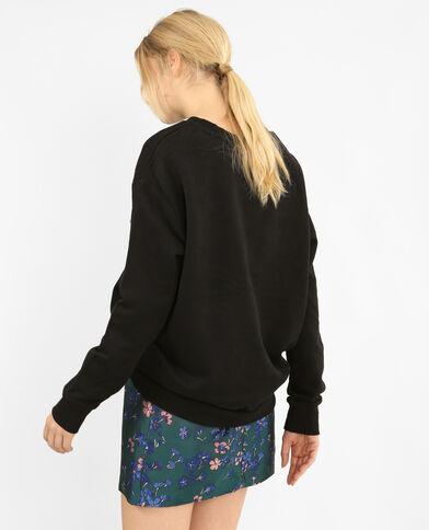 Basic-Sweatshirt Schwarz