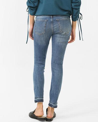 Skinny-Jeans, mittlere Größe Blau