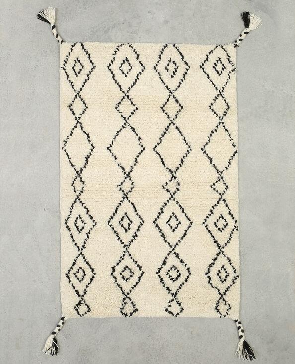Rautenteppich im Berber-Stil Naturweiß