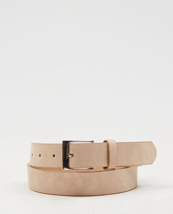 Cinturón ante terciopelo rosa maquillaje