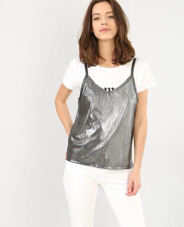 T-Shirt 2 in 1 Weiß