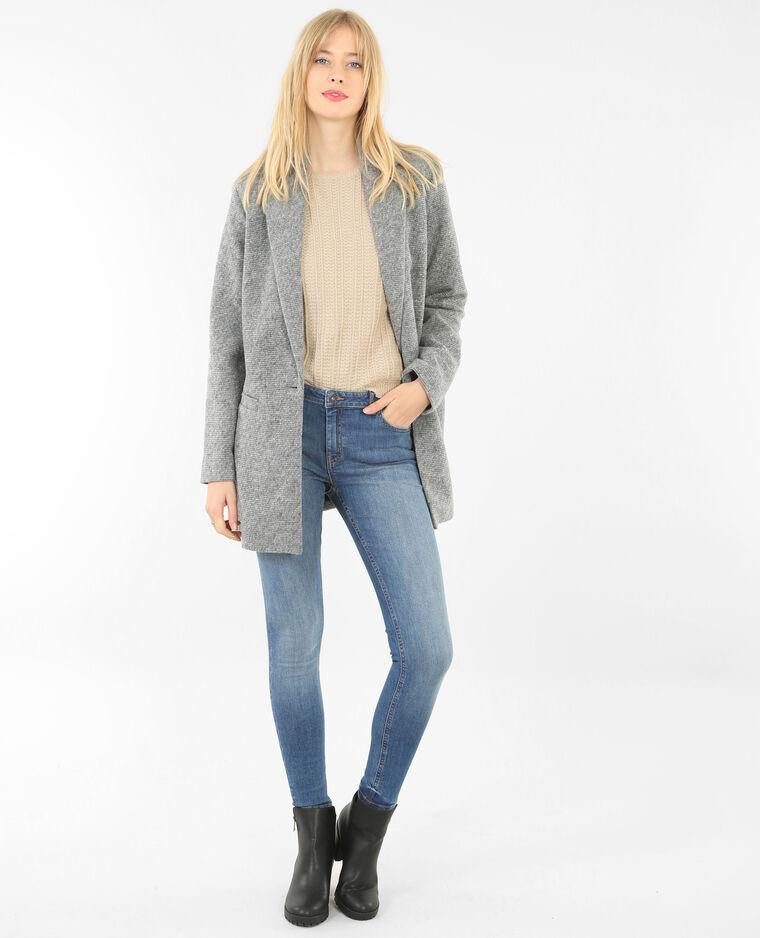 Skinny-Jeans Mid-Waist Blau