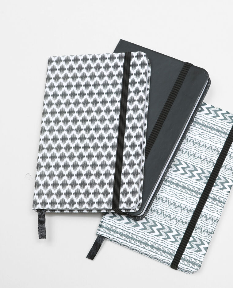 Lot de 3 notebook noir