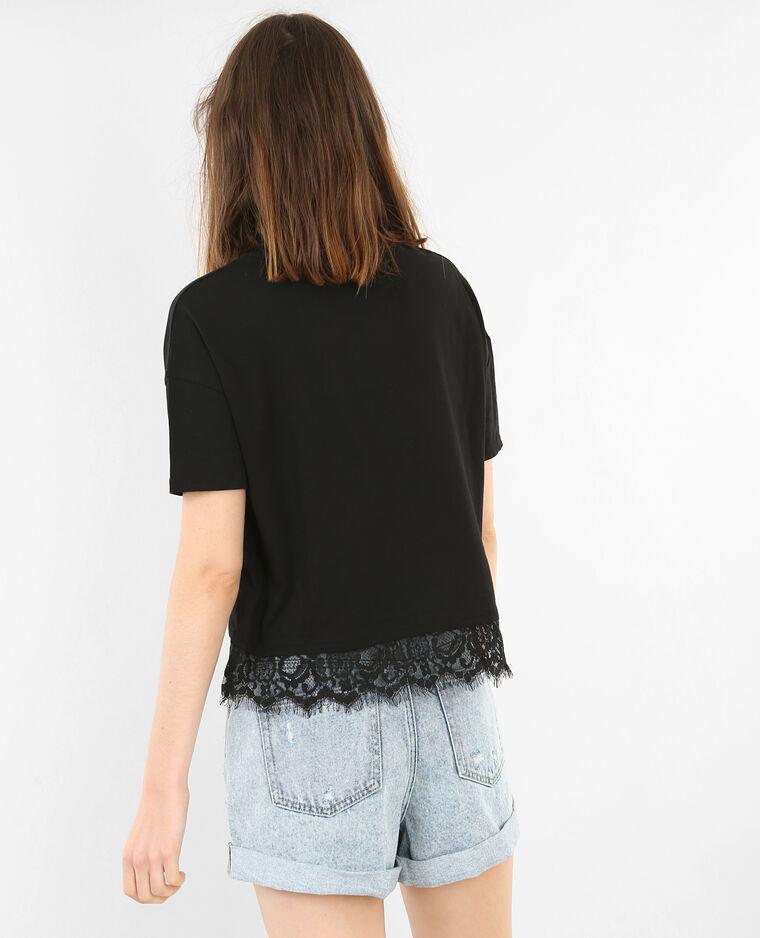 spitzen t shirt schwarz 403672899n43 pimkie. Black Bedroom Furniture Sets. Home Design Ideas