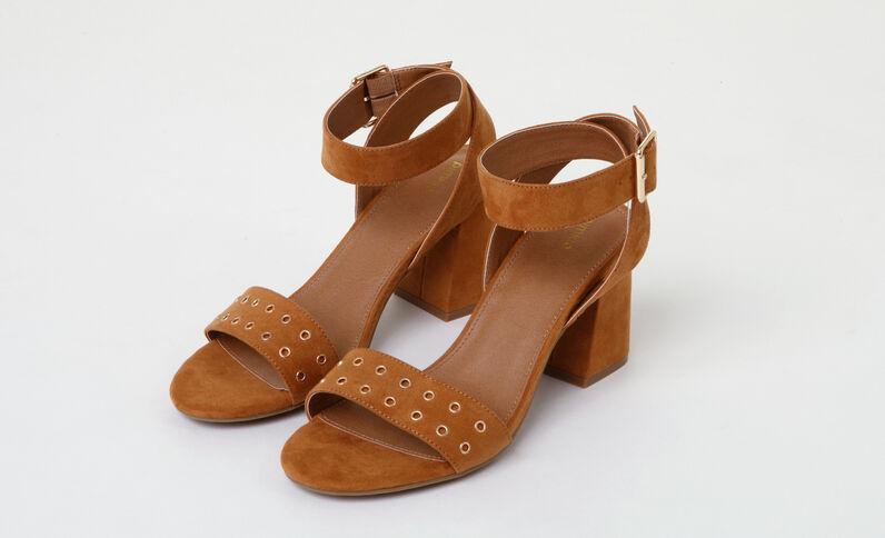 Sandali tacchi quadrati marrone