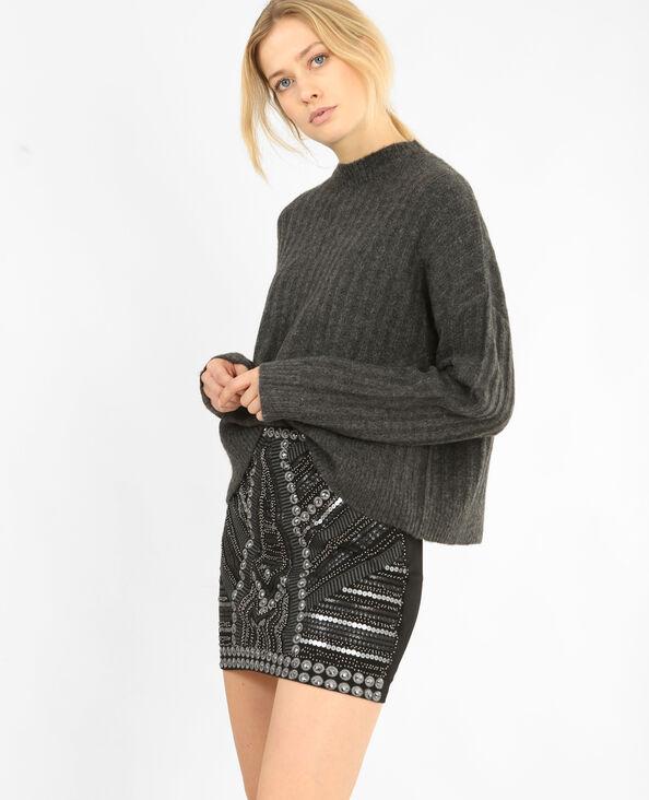 Oversize-Pullover Grau