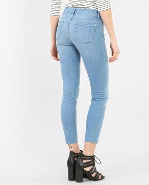 Skinny-Hose mit unten abgeschnittenen Hosenbeinen Himmelblau