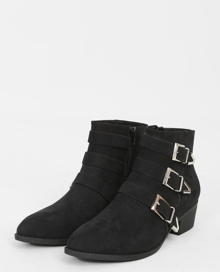 spitze boots mit schnallen schwarz 986136899a08 pimkie. Black Bedroom Furniture Sets. Home Design Ideas