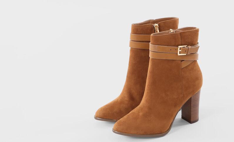 Boots tacco quadrato marrone marrone