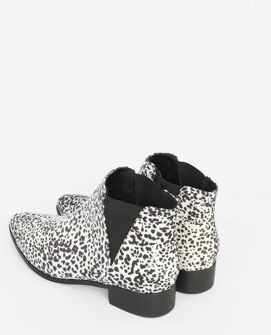 Boots pointues léopard blanc
