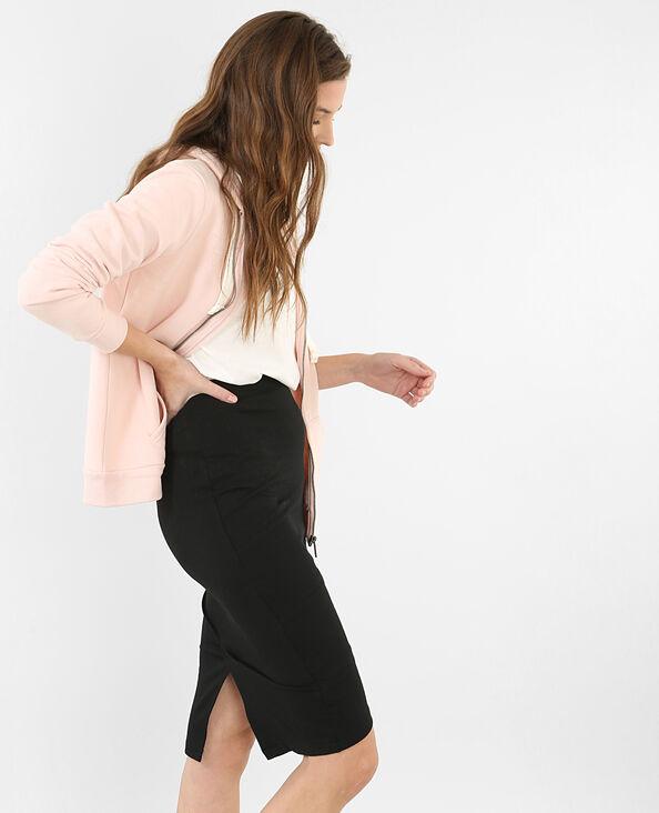 Sweat zippé capuche rose