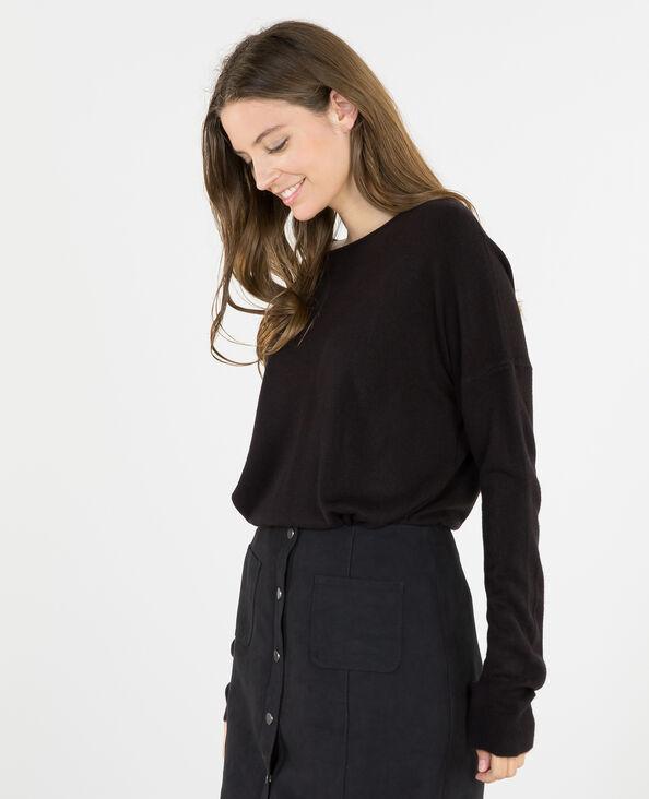 Zachte trui zwart