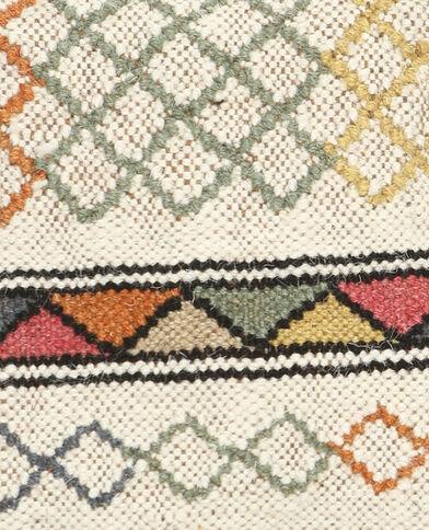 Kissenbezug aus Jute im Kelim-Stil Beige