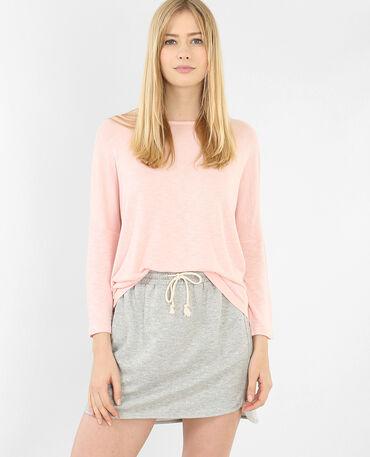 T-shirt manches chauve-souris rose