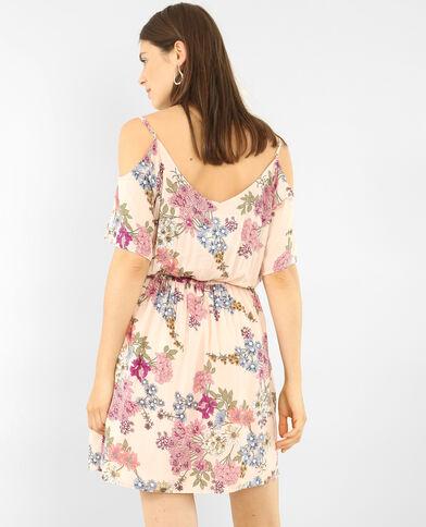 Schön fallendes Kleid mit Peekaboo-Ärmeln Zartrosa