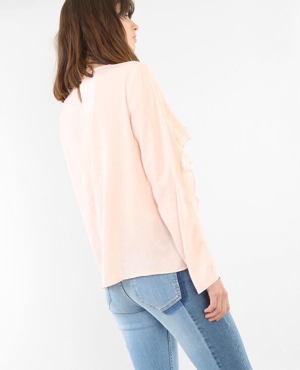 Blusa con volantes rosa