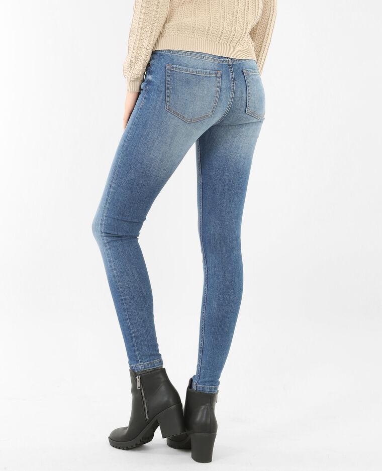 Skinny taille moyenne bleu