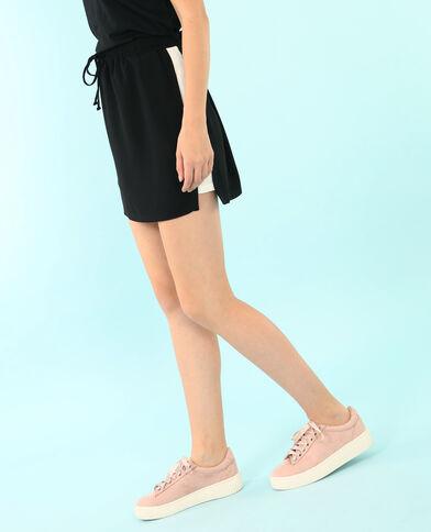 Falda con bandas blancas negro