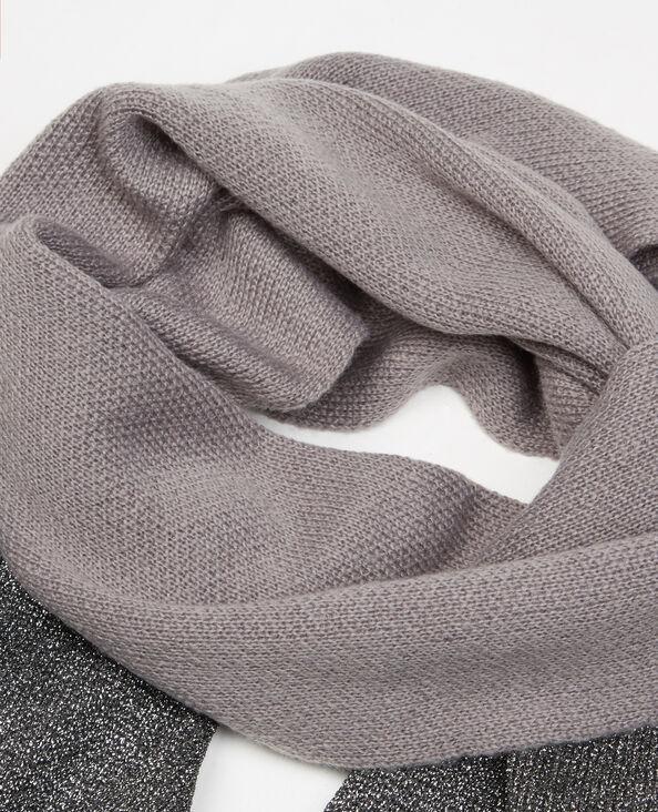 Lurex-Schal Grau