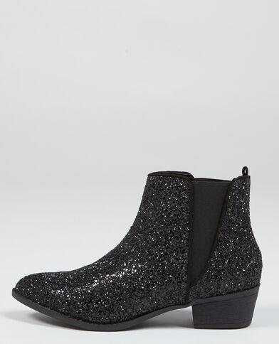 Boots chelsea glitter. nero