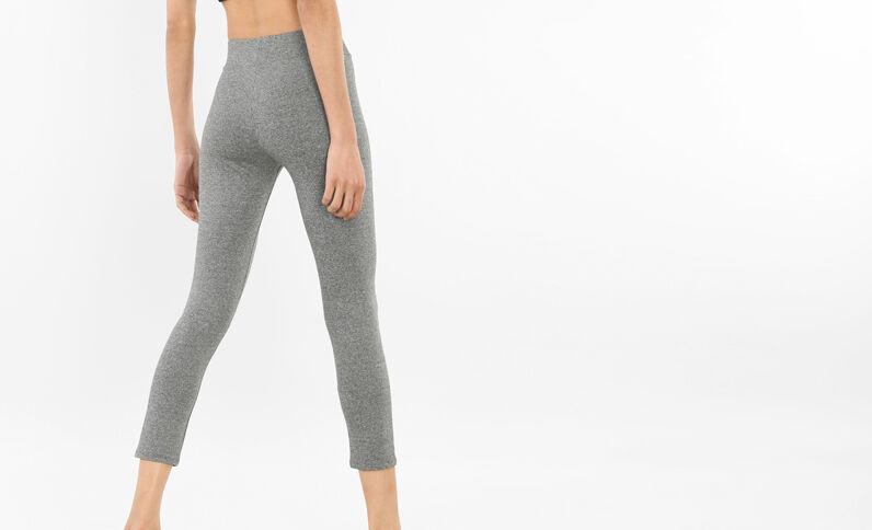 Legging de running gris jaspeado