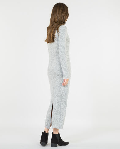 Langes Pulloverkleid Grau