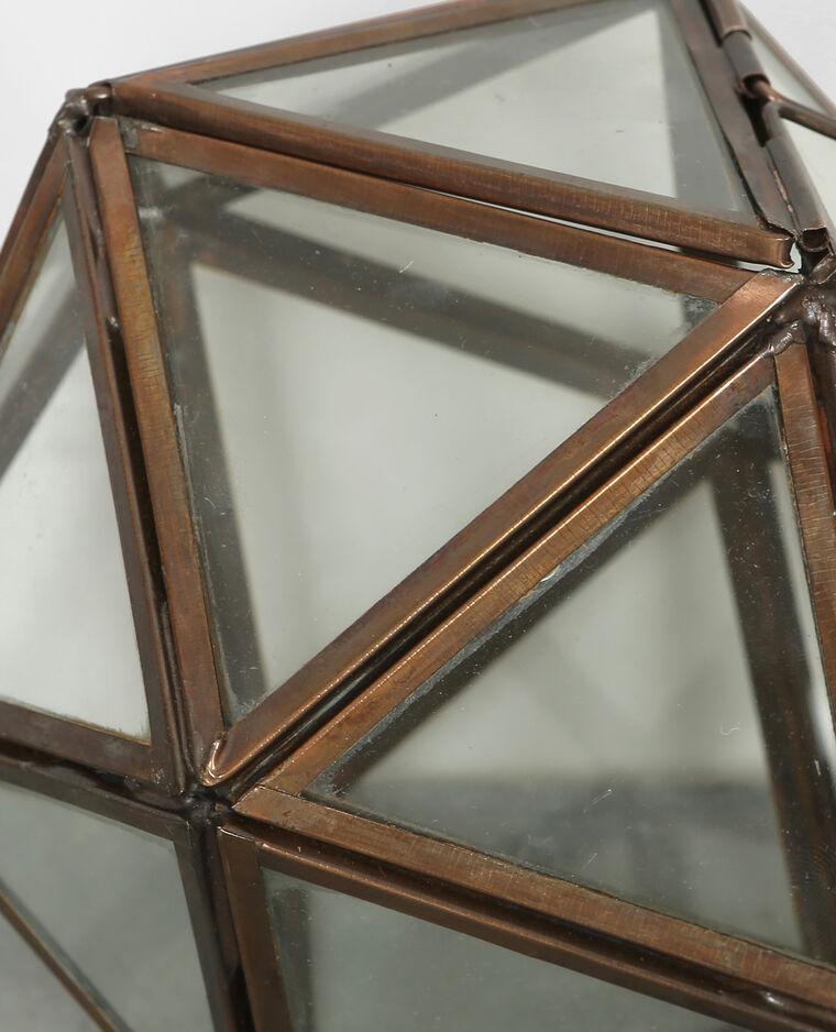 Glazen polygoon brons