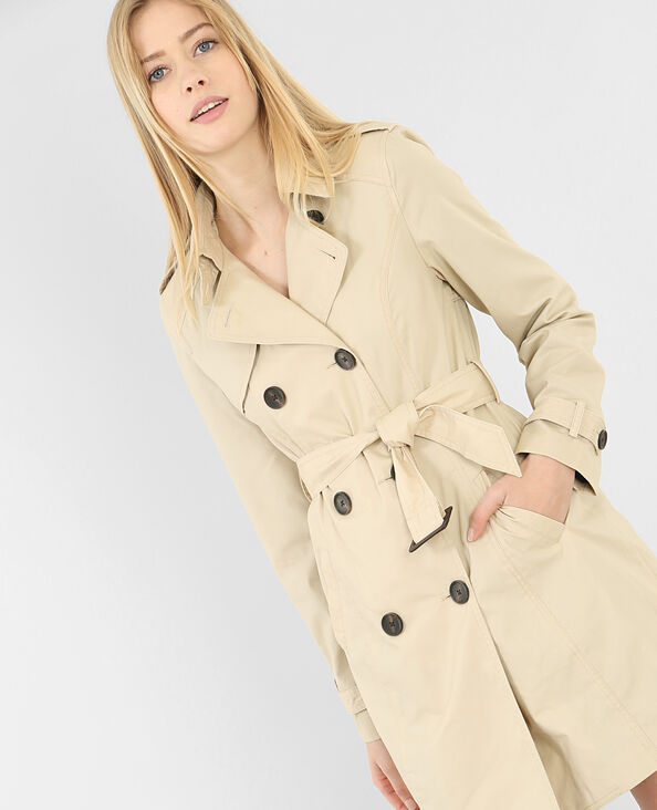 Trench basic beige chiné