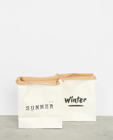 Lote de 2 bolsas de papel marfil