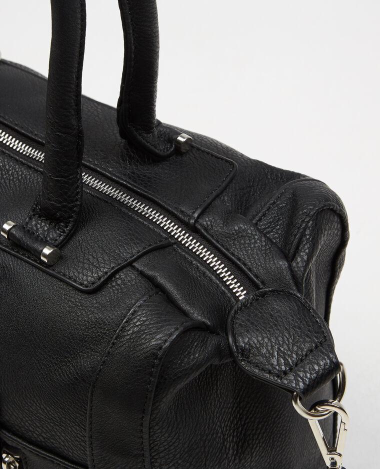 einkaufstasche mit rei verschluss schwarz 902270899a08. Black Bedroom Furniture Sets. Home Design Ideas