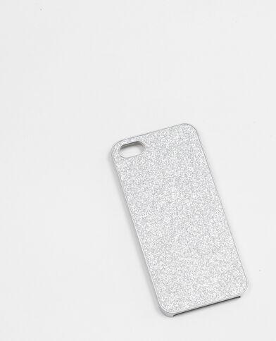 Glitzernde Smartphone-Schale Silberig