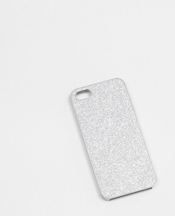 Custodia smartphone glitter grigio paillettato
