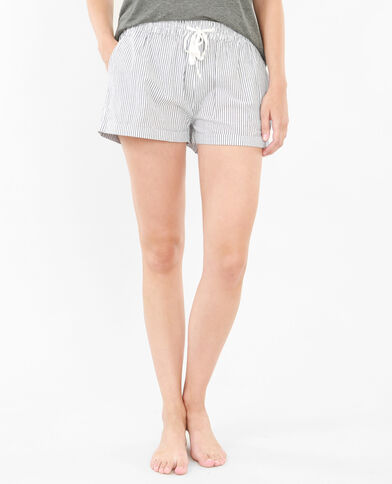 Shorts homewear a rayas blanco